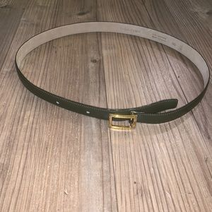Vintage Yves Saint Laurent Olive Green Belt